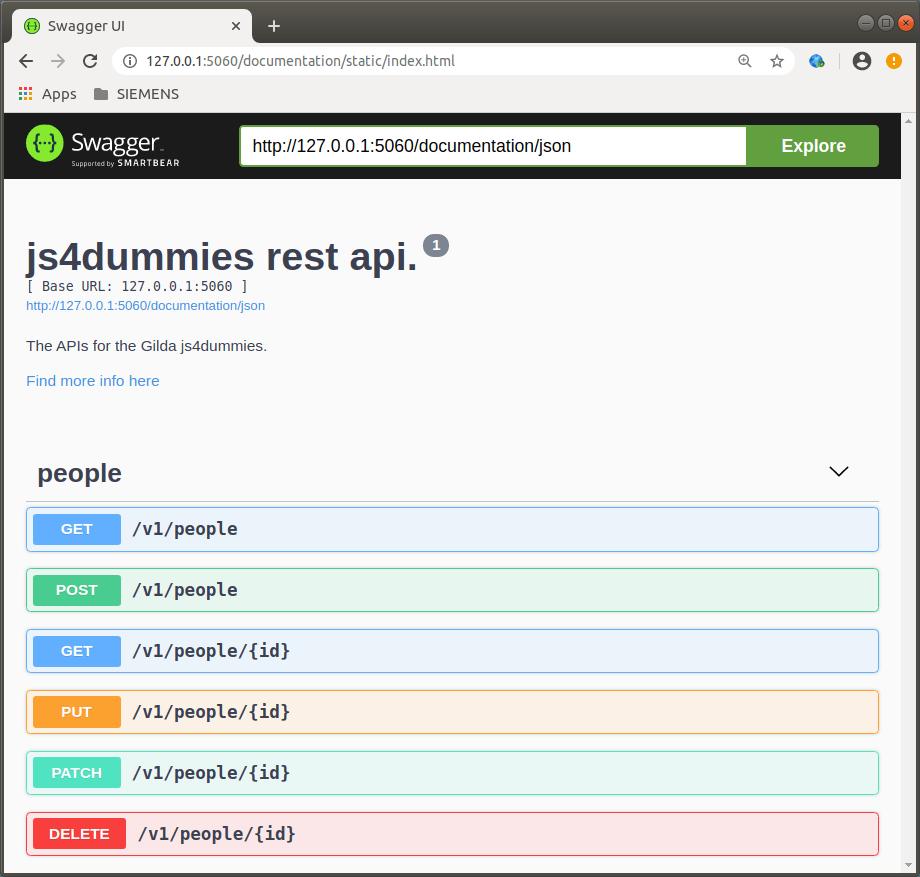 Elenco APIs progetto Gilda JS4Dummies